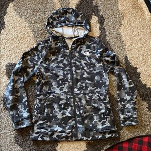 Black Camo North Face Jacket - Large